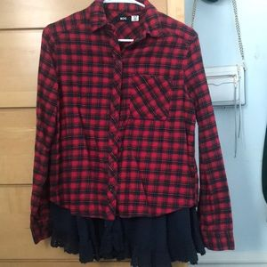 Urban Outfitters BDG Layered Flannel